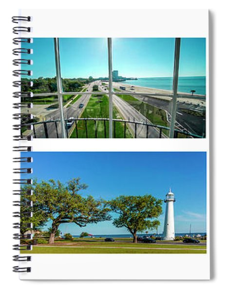 Grand Old Lighthouse Biloxi Ms Collage A1a Spiral Notebook