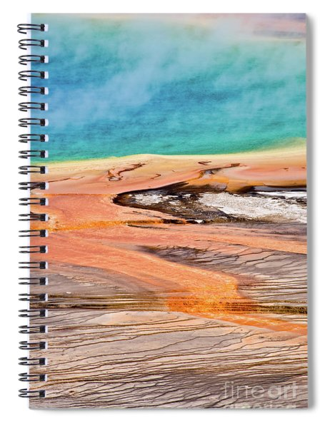 Grand Prismatic Spring Yellowstone Vertical Spiral Notebook