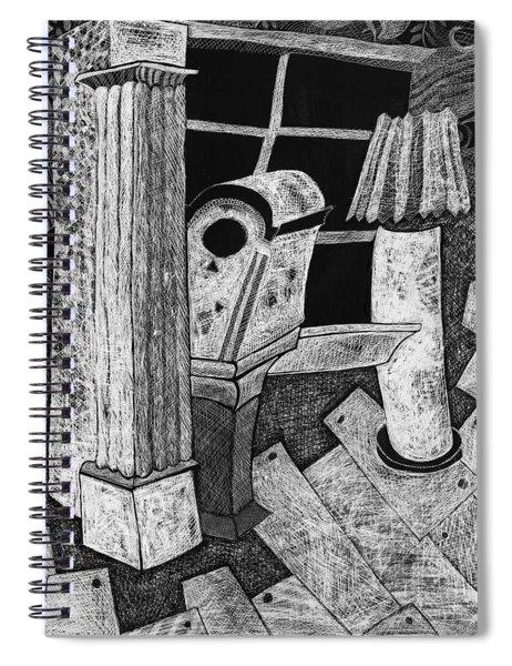 Grandfather Clock Spiral Notebook