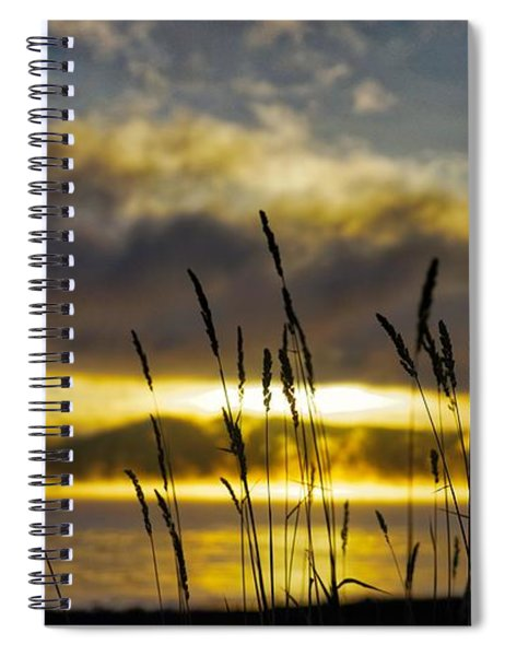 Grassy Shoreline Sunrise Spiral Notebook