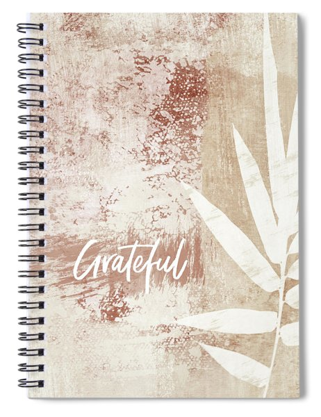 Grateful Autumn Clay Leaf - Art By Linda Woods Spiral Notebook by Linda Woods