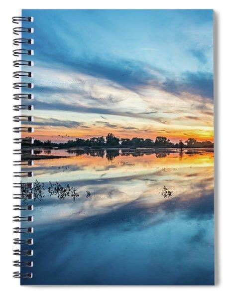 Gray Lodge Sunset Spiral Notebook