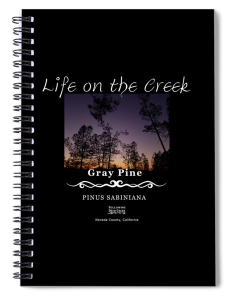 Gray Pine Spiral Notebook