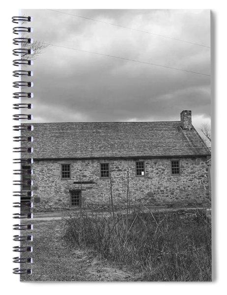 Grey Skies Over Fieldstone - Waterloo Village Spiral Notebook