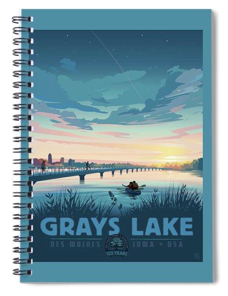 Grays Lake Spiral Notebook by Clint Hansen