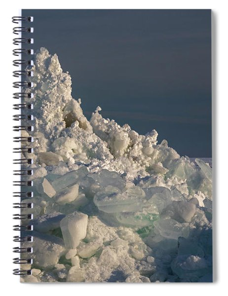 Great Lakes Ice Spiral Notebook