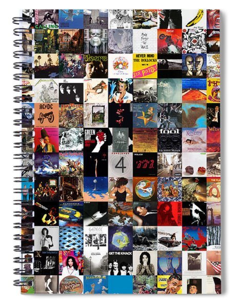 Greatest Album Covers Of All Time Spiral Notebook