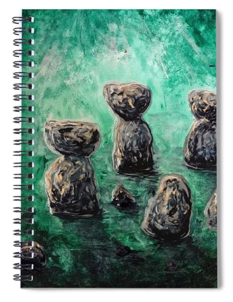 Green Ancient Latte Stone Site Spiral Notebook