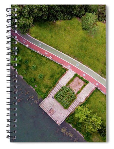 Green Field Spiral Notebook