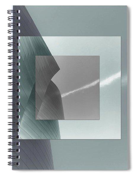 Green Gehry Spiral Notebook
