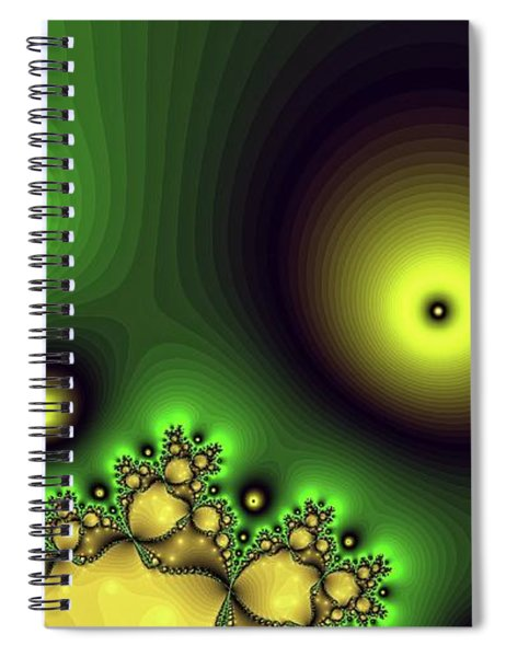 Green Glowing Bliss Abstract Spiral Notebook