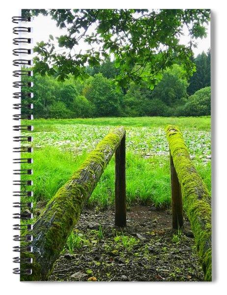 Green Grass Pond, France Spiral Notebook