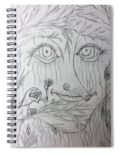 Green Man Of The Forest Spiral Notebook