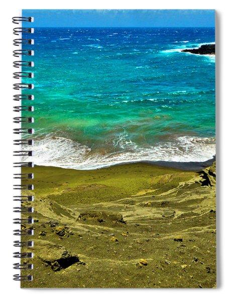 Green Sand Beach Spiral Notebook