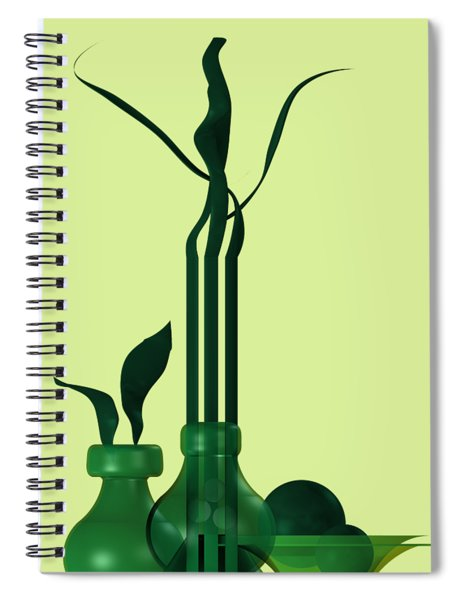 Green Still Life With Cool Elements Spiral Notebook