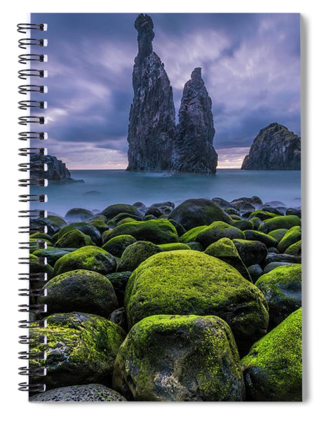 Green Stones Spiral Notebook