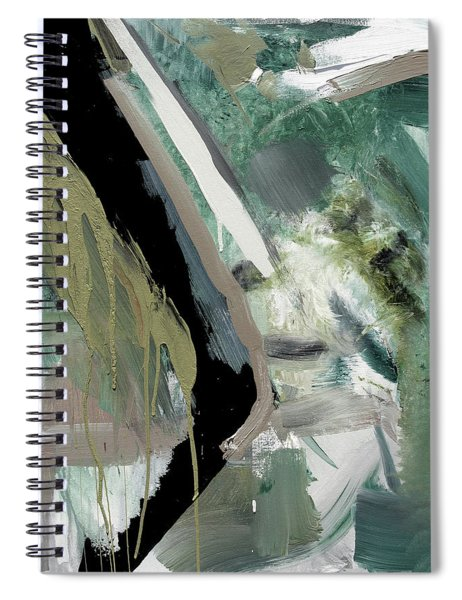 green stripe II Spiral Notebook