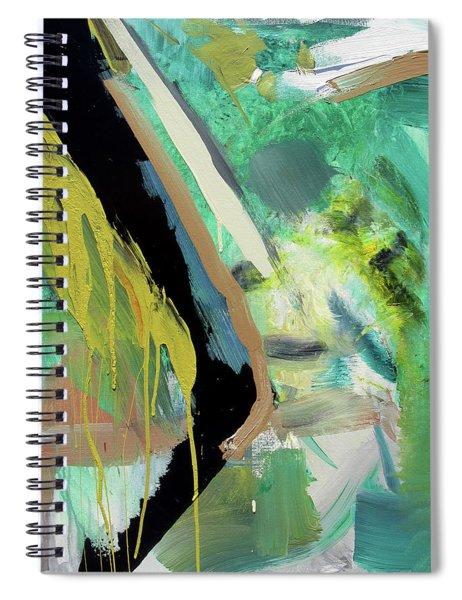 Green Stripe Spiral Notebook