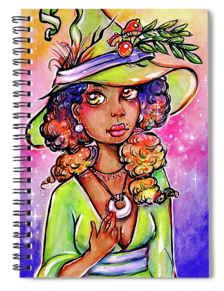 Green Witch Spiral Notebook