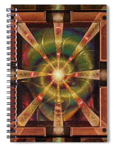 Green Woman Awakens Spiral Notebook