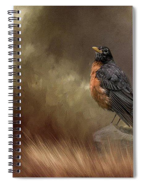 Greeting Autumn Spiral Notebook
