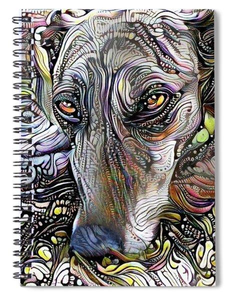Greyhound Rescue Dog Spiral Notebook