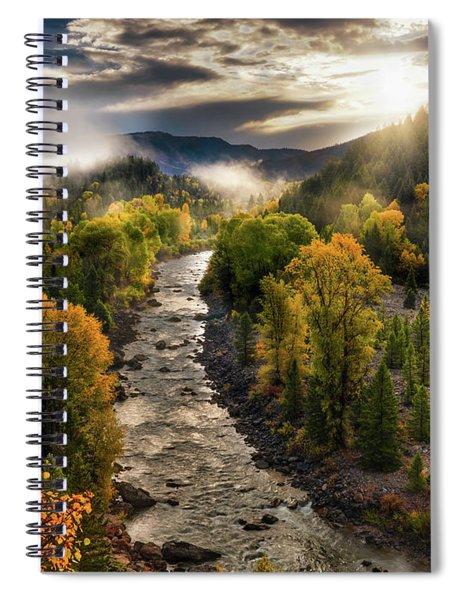 Gros Ventre River Light Spiral Notebook