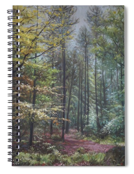 Group Of Trees In The New Forest. Spiral Notebook