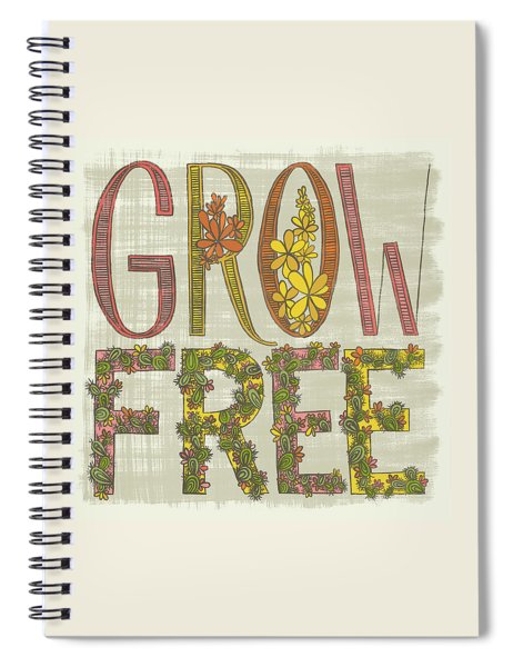 Grow Free Flowering Cacti Spiral Notebook