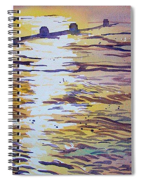 Groynes And Glare Spiral Notebook