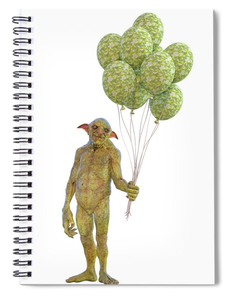 Grumpy Troll Smiling Peace Offering Spiral Notebook