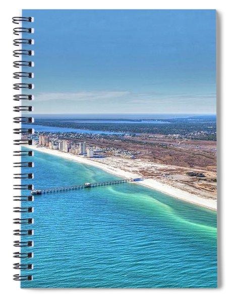 Gsp Pier And Beach Spiral Notebook