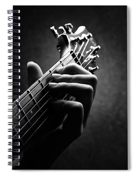 Guitarist Hand Close-up Spiral Notebook
