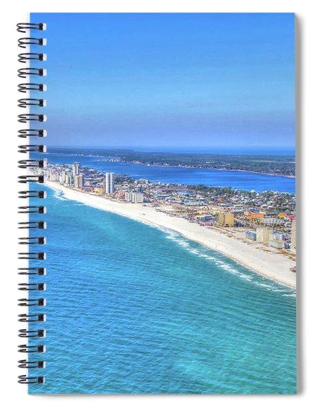 Gulf Shores Beaches 1335 Tonemapped Spiral Notebook