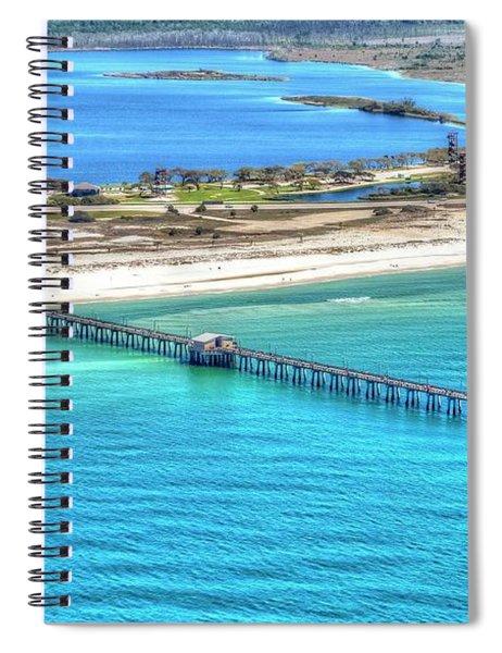 Gulf State Park Pier 7464p3 Spiral Notebook