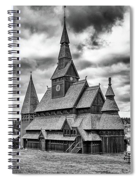 Gustav Adolf Stave Church, Harz Spiral Notebook