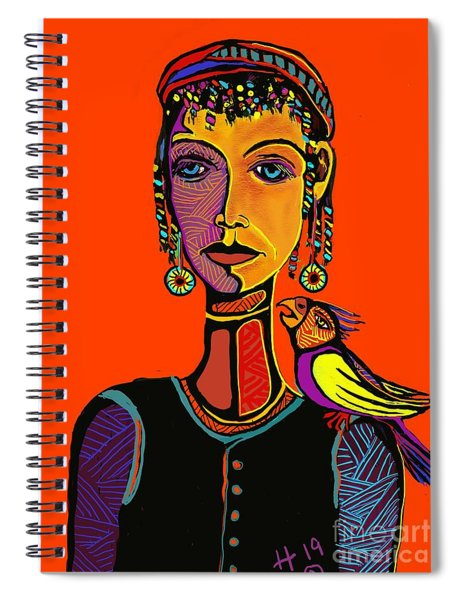 Gypsy Parrot Spiral Notebook