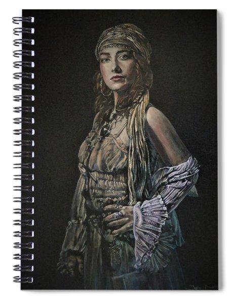 Gypsy Portrait Spiral Notebook