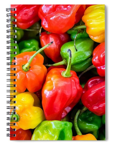 Habanero Chilli Peppers Spiral Notebook