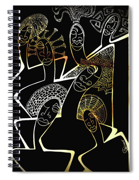 Hair Sisters Stage Set Spiral Notebook