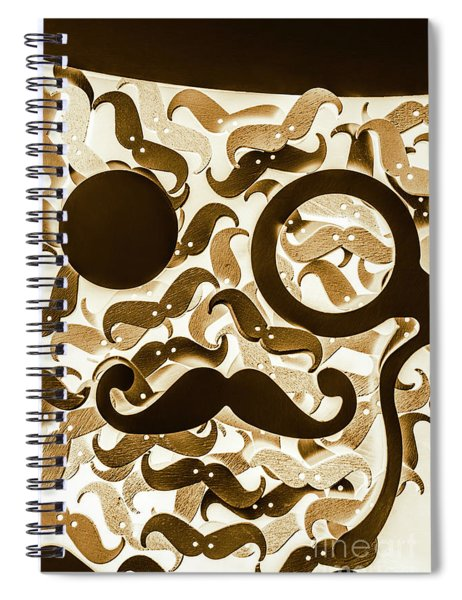 Hairy Hipster Spiral Notebook