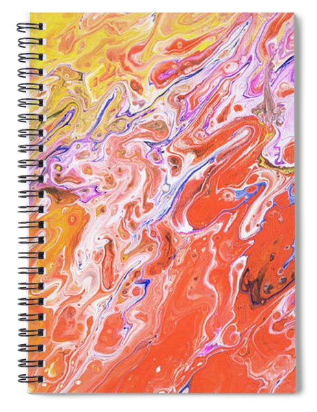Spiral Notebook featuring the painting Haleakala Sunrise by Lisa Smith