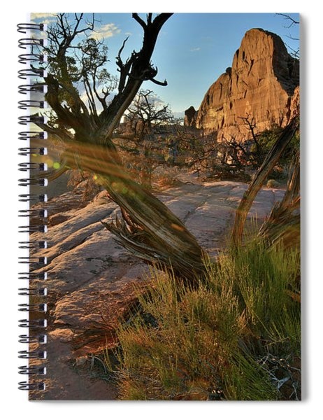Half Dome At Sunset At Green River Overlook Spiral Notebook