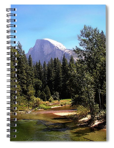 Half Dome From Ahwanee Bridge - Yosemite Spiral Notebook