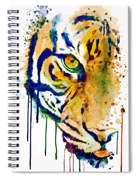 Half Faced Tiger Spiral Notebook