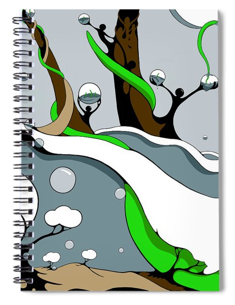 Half Full Spiral Notebook