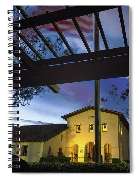 Half Staff At The Slo Mission Spiral Notebook