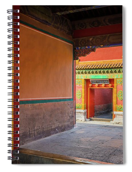 Hall Of Earthly Tranquility Spiral Notebook by Inge Johnsson