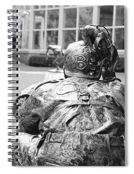 Hall Of Fame Statues Spiral Notebook