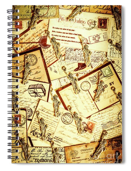 Hallmarks Of Travelling Old Spiral Notebook